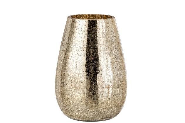 Windlicht Eivorm Craquele Glas Goud