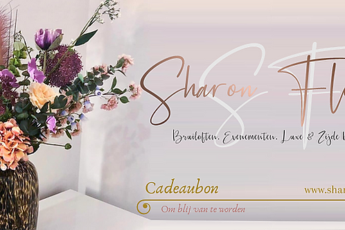 Digitale Sharon Flowers Cadeaubon  €75,00