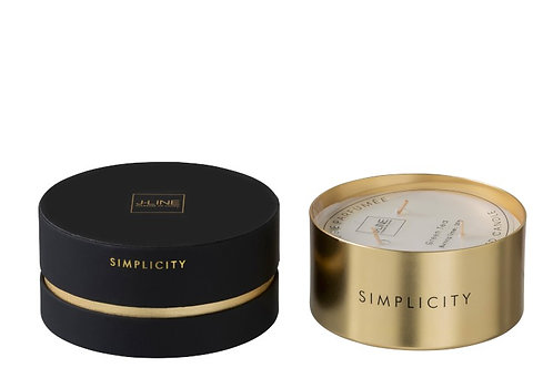 Scented Candle Simplicity Wax Black/Gold-30u