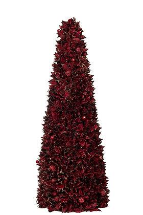 Cone Leaf Deep Red/Glitter Gold