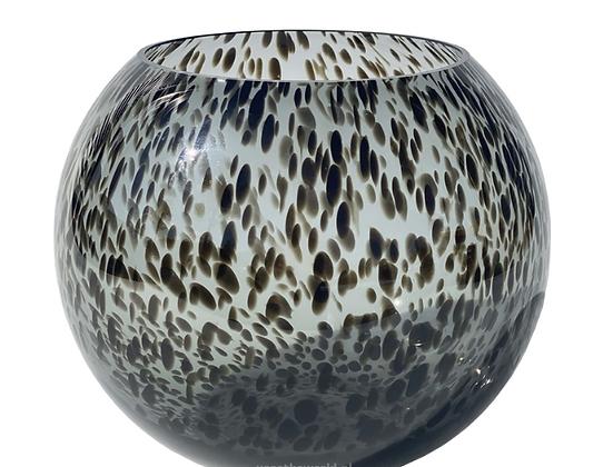 Black Cheetah Bol Vase