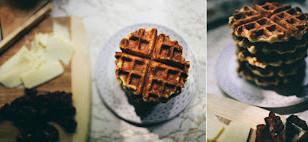 Cheddar Bay Biscuit Waffle Breakfast Sandwiches