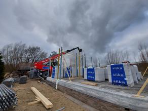Magni aan het werk bij nieuwbouw woonhuis