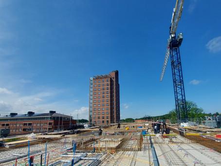 Complete betonwerk voor Het Poortgebouw in Den Haag