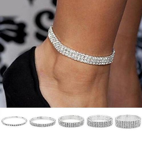 Woman Silver Ankle Bracelet