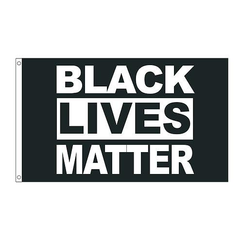 3x5 FT Outdoor Banner- Black Lives Matter Flag