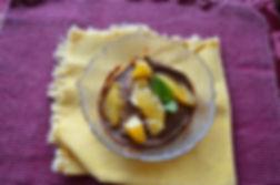 Carob Sweet Potato Pudding, gluten free, lactose free, vegan