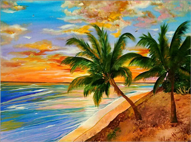 TROPICAL SUNSET  SOLD