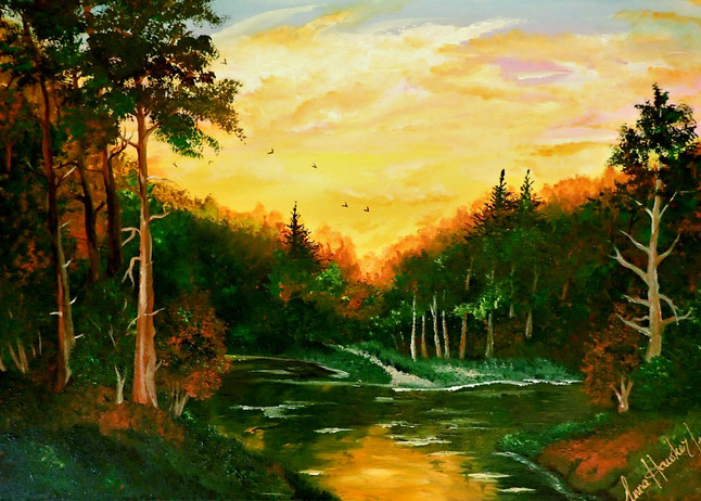 SUNSET IN THE FOREST  SOLD  SOLD