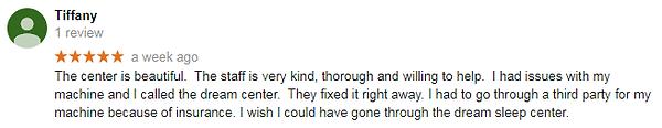 Patient Google Review