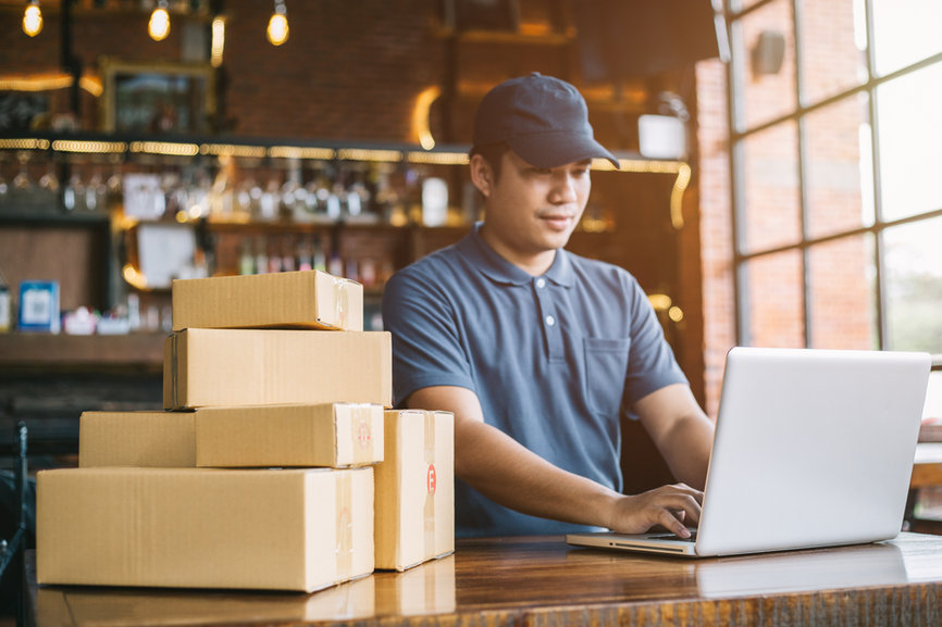 Online shopping young start small busine