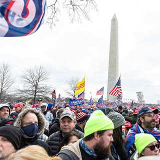 Washington, DC - January 6, 2021: Pro-Trump protesters