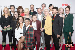 Cast poses for a photo Tales of the city