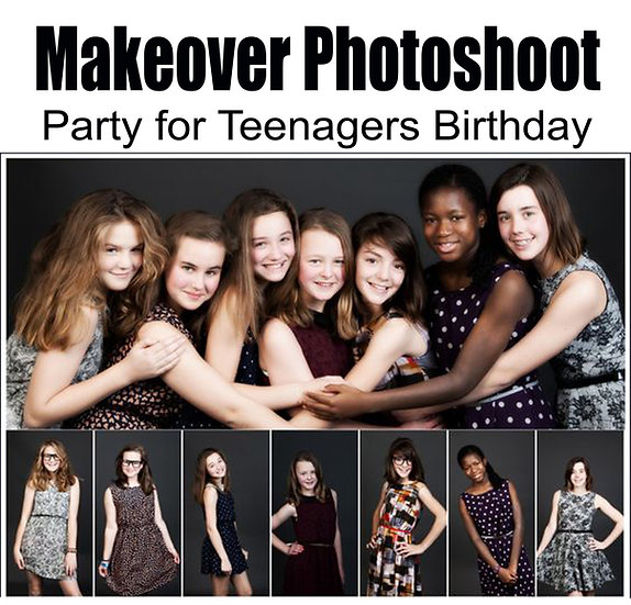 Makeover photoshoot party for teenagers birthday
