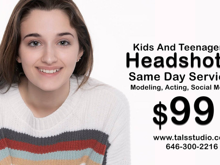 Kids And Teenagers Headshot Same Day Service Modeling, Acting, Dancing, Social Media.