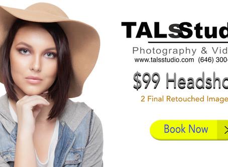 $99 Professional Headshots Same Day Service