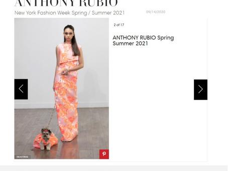 Tals studio get in to BAZAAR Fashion magazine New York Fashion Week Anthony Rubio spring summer 2021