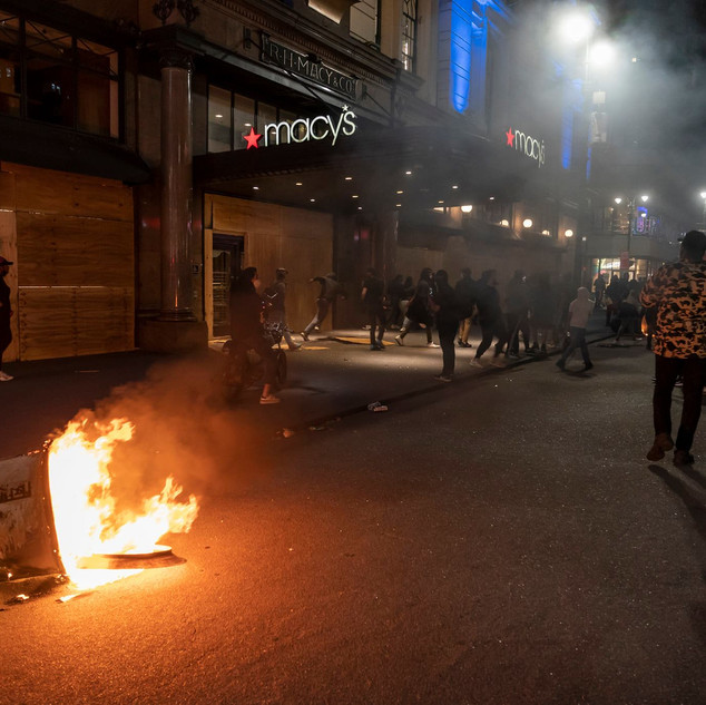 Protests turn into looting and destructions