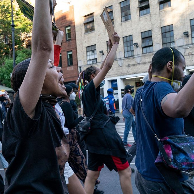 Peaceful protest against police killing