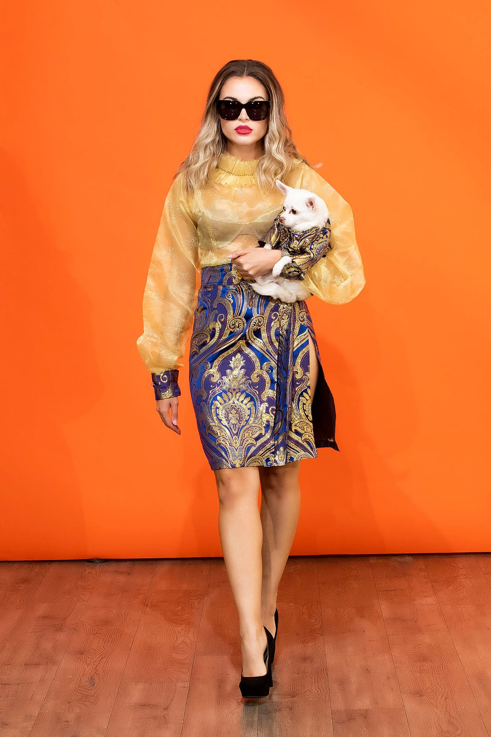 From Thursday's Dog On The Catwalk event presented by Guide Dog Foundation of Anthony Rubio's Women's Wear and Canine Couture runway show. If you missed the premiere, you may watch it here: https://youtu.be/SWnpV2bbi_E?t=899 To donate, visit: DogCouture.GuideDog.org Model:  Natalie Zarra Canine Model: Kimba  Photo by Yoni Levy at Tals Studio
