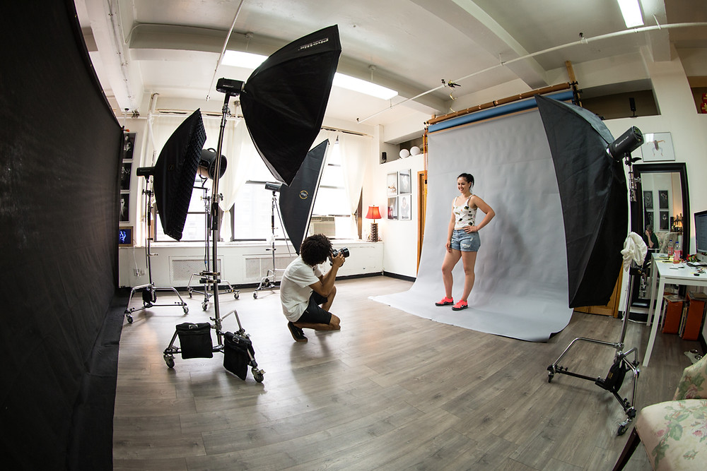 NYC Studio Rentals - Perfect for headshots, video production, fashion campaigns & modeling www.talsstudiorental.com/all-studios (646) 300-2216 Options:  Studio 1 - $25/hour Studio 2 - $60/hour Studio 3 - $90/hour Studio 4 - $150/hour 2 Hours Minimum Lighting Options Equipment Rental Available Studio dimensions: 35' x 45' x 14' *Complimentary Amenities and Background Colors will depend upon studio option chosen