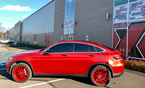 Mercedes GL300 - Crimson Red Matte Chrome Metallic