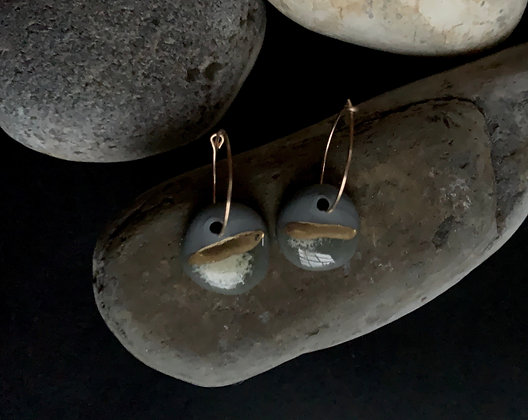 Small porcelain earrings