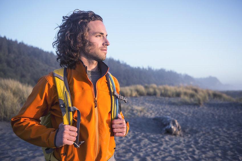 オレンジ色のジャケット