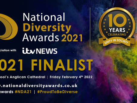 We're FINALISTS at the National Diversity Awards 2021!