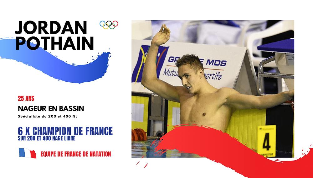 Jordan Pothain, Nageur en equipe de france de natation