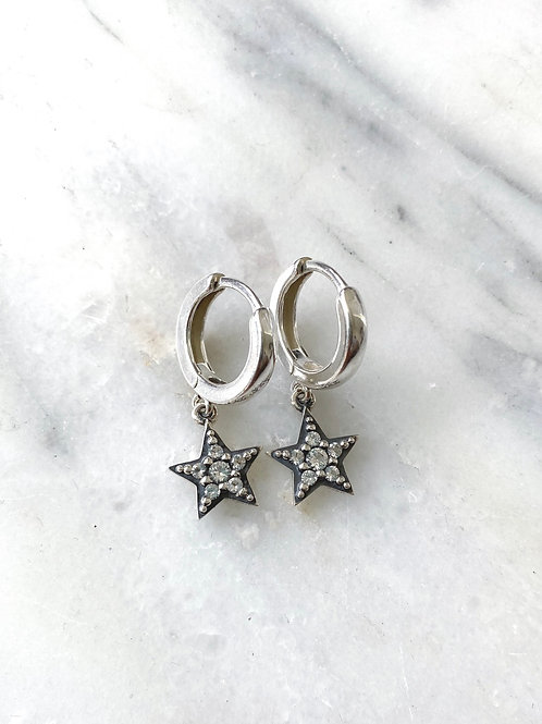 Star Huggie Earring