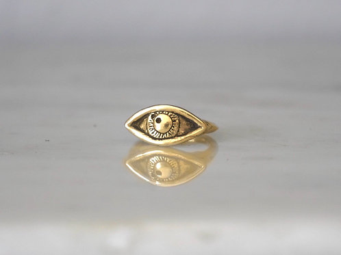 14k Gold Awaken Signet Ring