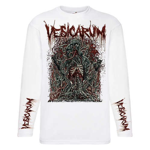 Vesicarum - Place Of Anarchy White Longsleeve Tee