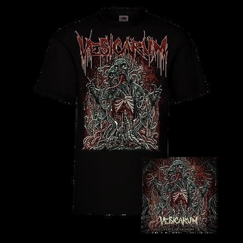 Vesicarum - Place Of Anarchy Signed Digipak CD + Black Shortsleeve Tee Bundle