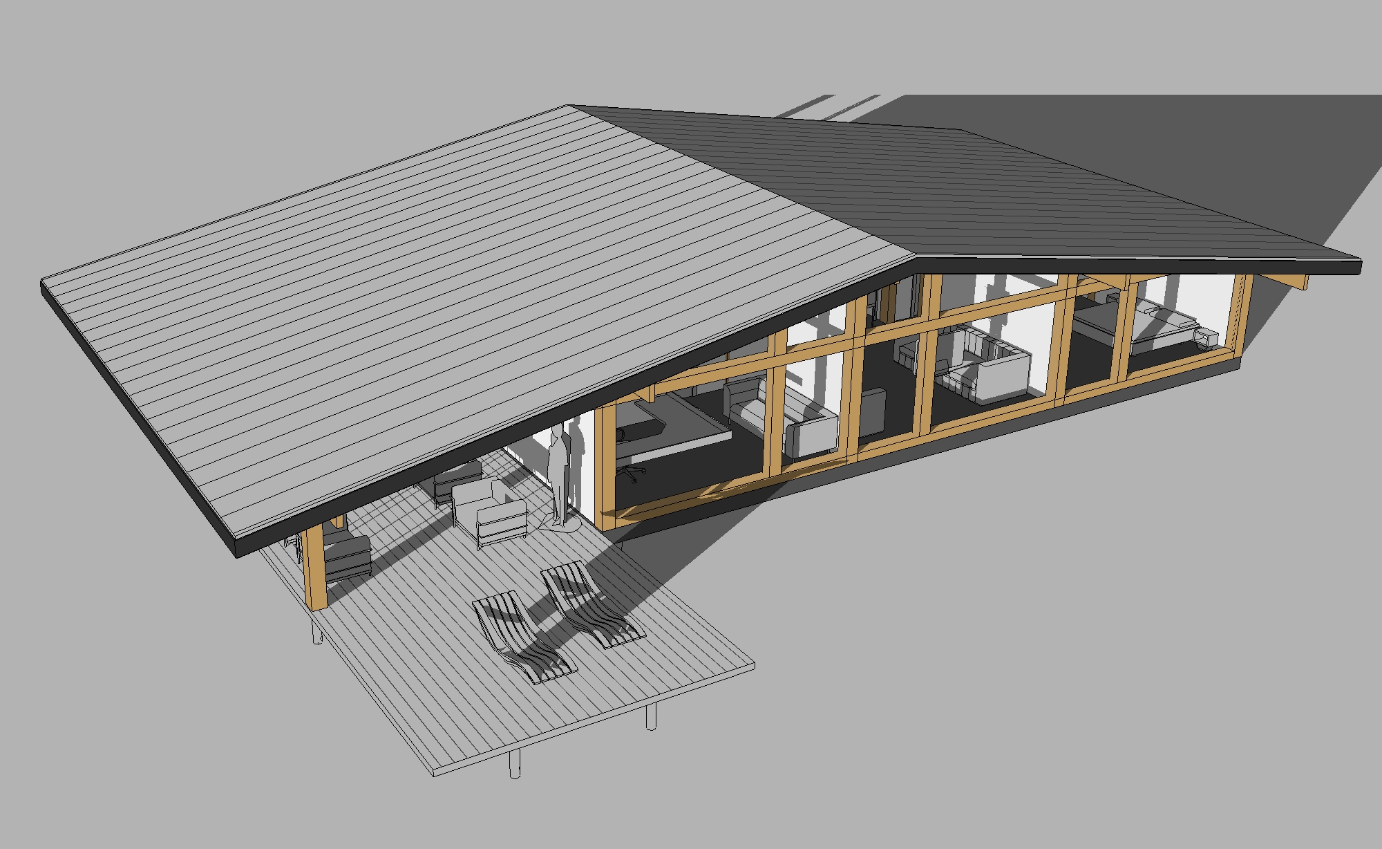 готовый проект одноэтажного фахверк