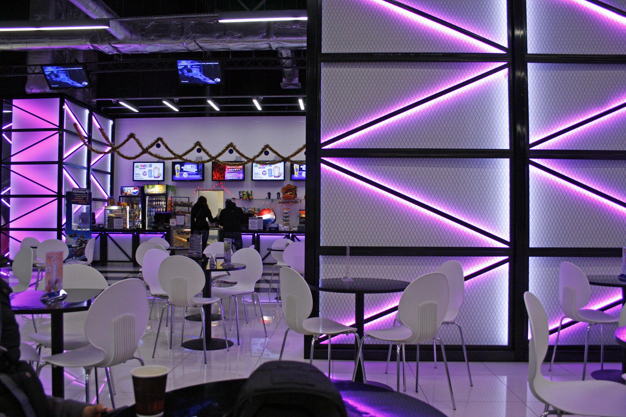 Дизайн интерьеров кинотеатра