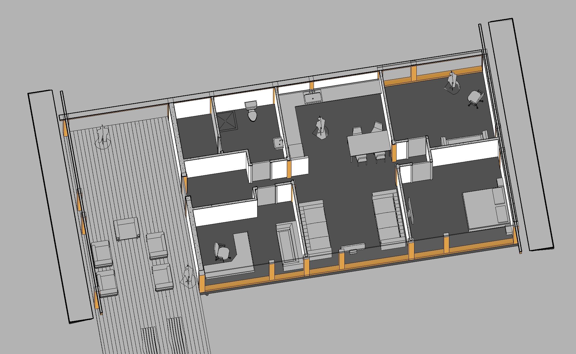 готовый проект одноэтажного каркасного дома