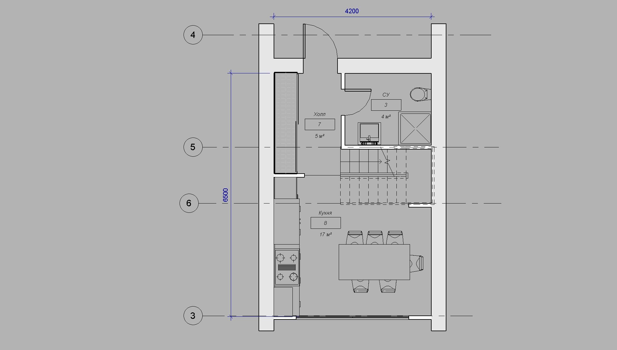 План дома студии