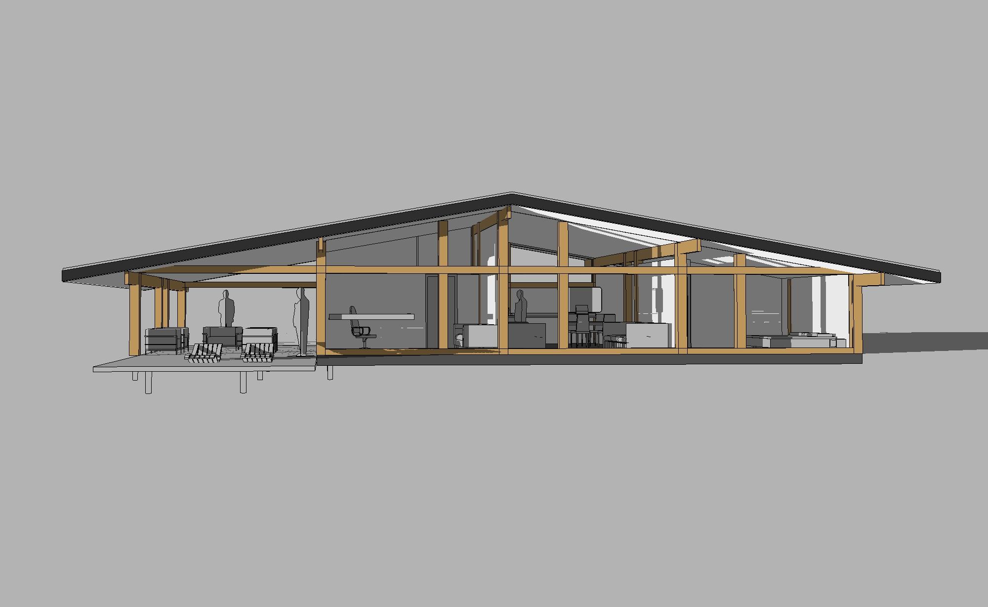 проект одноэтажного фахверк