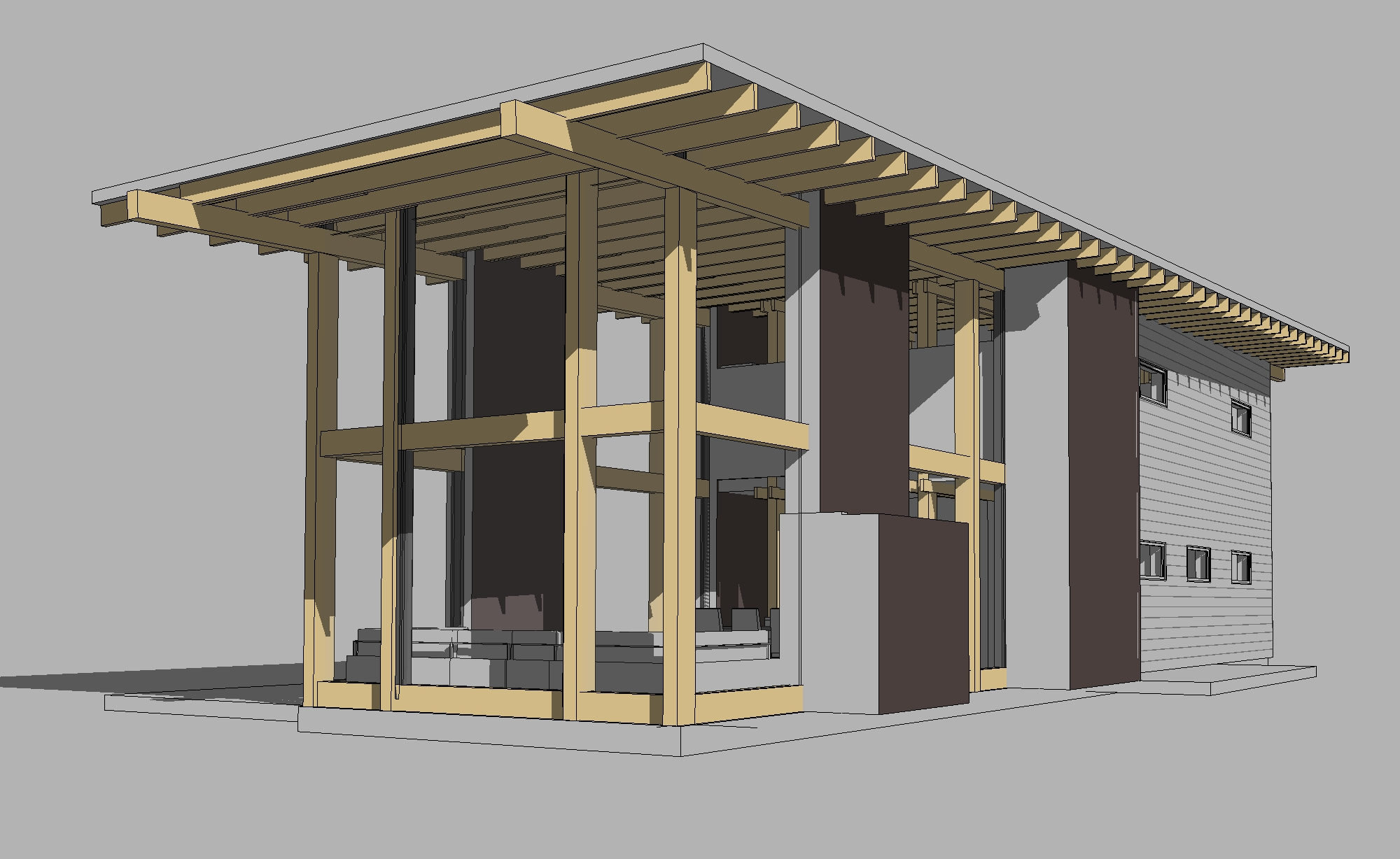 Типовой проект каркасного дома