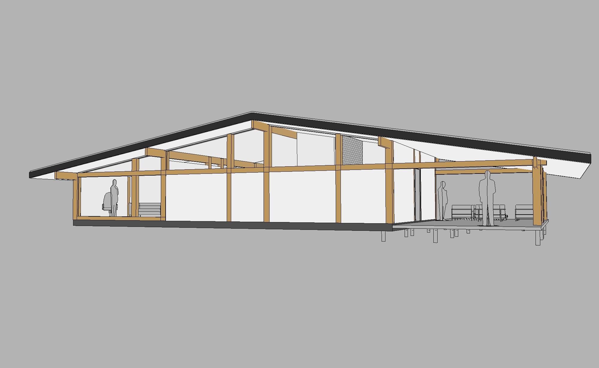 готовый проект одноэтажного коттеджа