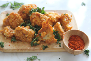 Smoky and spicy cauliflower wings
