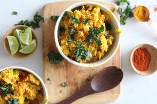 Anti-inflammatory healing Cauliflower Rice Curry