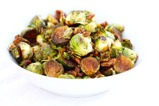 Candied Pecan Maple Brussels Sprouts