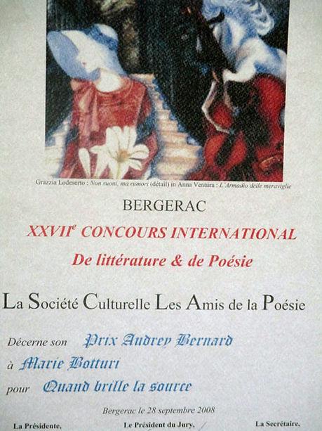 Prix Audrey Bernard 2008 décerné à Marie Botturi