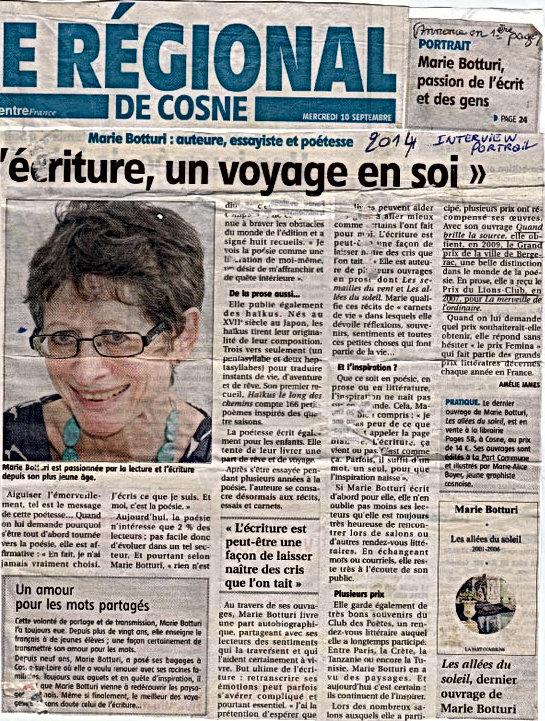Regional de Cosnes 2014, Marie Botturi