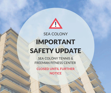 Sea Colony Safety Update – PLEASE READ