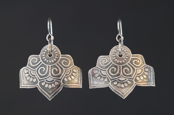 Mandala Wide Earrings