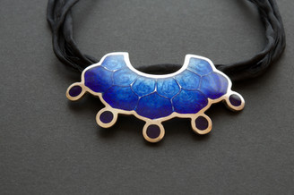 Blue Enamel Pendant