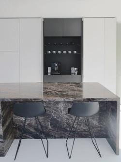 keukeneiland - zitgedeelte met bar